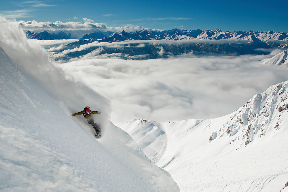 Snowboard Turn Nordkette