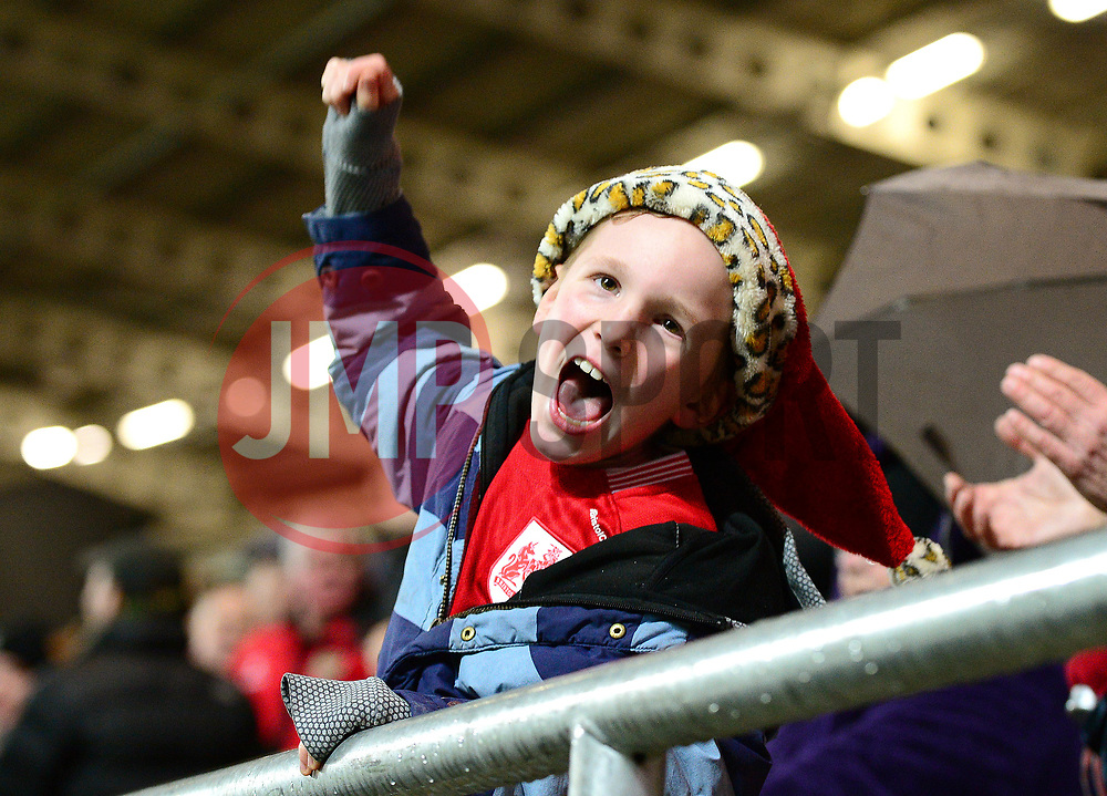 A young Bristol City fan celebrates Jamie Paterson's goal - Mandatory by-line: Dougie Allward/JMP - 26/12/2017 - FOOTBALL - Ashton Gate Stadium - Bristol, England - Bristol City v Reading - Sky Bet Championship