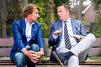 LIENDEN - 21-09-2016, FC Lienden - AZ, Sportpark de Abdijhof, Lienden trainer Hans Kraay jr, AZ trainer John van den Brom