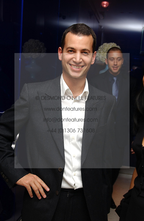 MATTHEW SLOTOVER at a dinner hosted by Cartier to celebrate the opening of the 2004 Frieze Art Fair, held at Yauacha 15-17 Broadwick Street, London W1 on 13th October 2004.<br /><br />NON EXCLUSIVE - WORLD RIGHTS