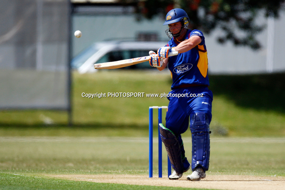 Shaun Haig in action, Domestic 1 Day Cricket, Auckland Aces v Otago Volts, Colin Maiden Park, Auckland. 17 December 2009. Photo: William Booth/PHOTOSPORT