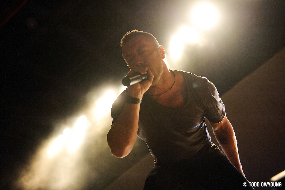 Photos of the band The Dillinger Escape Plan performing in support of the Deftones at the Pageant in St. Louis on April 26, 2011.