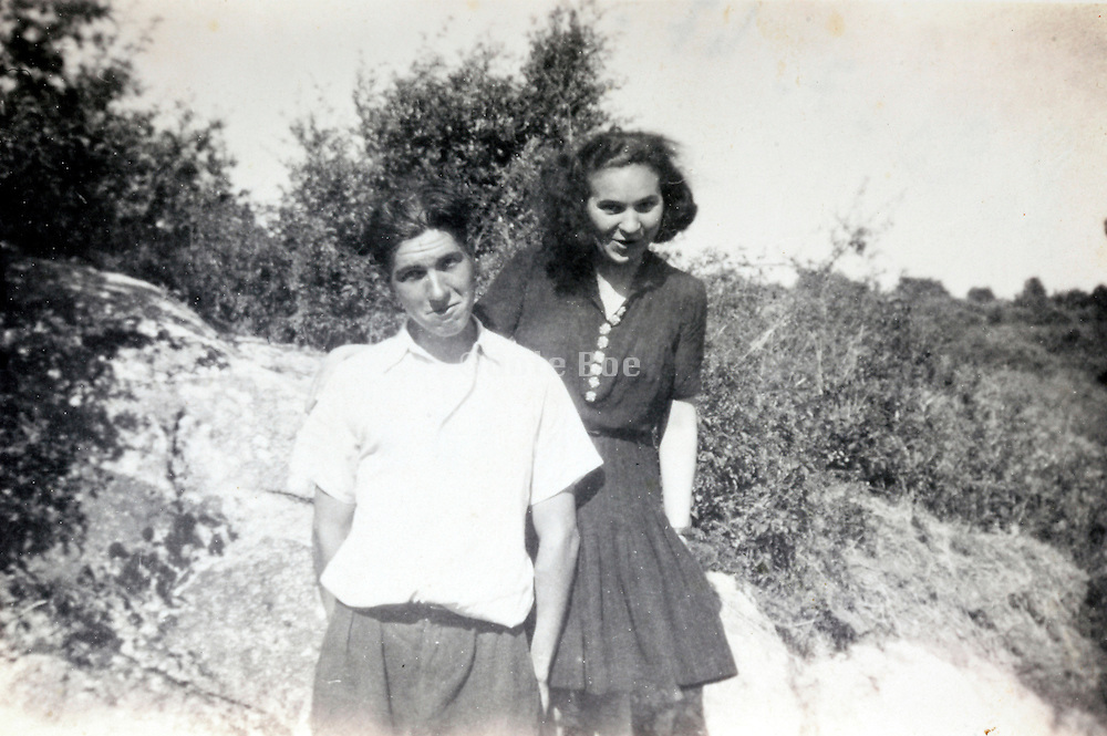 snap shot with two young people France 1947