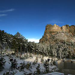 Mount Rushmore at sunrise in The Black Hills of South Dakota in October 2005. (Christina Paolucci, photographer)