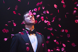 "© Licensed to London News Pictures. 04/08/2015. London, UK. Scott Garnham as Baron Felix von Gaigern. ""Grand Hotel"" opens for a six week run at the Southwark Playhouse from 31 July to 5 September 2015. The 17-strong international cast is led by Italian musical theatre star Christine Grimandi. The show, based on Vicki Baum's Grand Hotel is written by Luther Davis and directed by Thom Southerland, music and lyrics by Geroge Forrest and Robert Wright. Photo credit: Bettina Strenske/LNP"