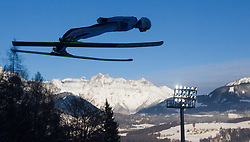 06.01.2015, Paul Ausserleitner Schanze, Bischofshofen, AUT, FIS Ski Sprung Weltcup, 63. Vierschanzentournee, Probedurchgang, im Bild Manuel Poppinger (AUT) // Manuel Poppinger of Austria during Trial Jump of 63rd Four Hills Tournament of FIS Ski Jumping World Cup at the Paul Ausserleitner Schanze, Bischofshofen, Austria on 2015/01/06. EXPA Pictures © 2015, PhotoCredit: EXPA/ JFK