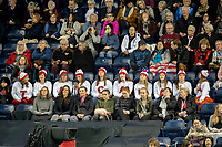 KELOWNA, BC - OCTOBER 25: Team Canada fans show their support during Skate Canada International at Prospera Place on October 25, 2019 in Kelowna, Canada. (Photo by Marissa Baecker/Shoot the Breeze)