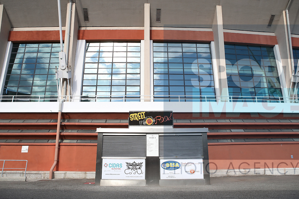 A closed snack bar in side the grounds of stadium pictured before the Serie A match at Stadio Grande Torino, Turin. Picture date: 20th June 2020. Picture credit should read: Jonathan Moscrop/Sportimage