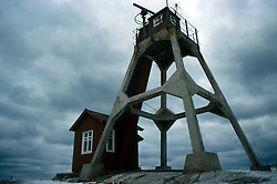 SWEDEN FJALLBACKA JAN04 - Abandoned pilot station on summer island, outside Fjallbacka. Pilots were necessary to guide ships through the archipelago of the Bohuslaen coast with its thousands of islands and rocks.. . jre/Photo by Jiri Rezac. . © Jiri Rezac 2004. . Contact: +44 (0) 7050 110 417. Mobile:  +44 (0) 7801 337 683. Office:  +44 (0) 20 8968 9635. . Email:   jiri@jirirezac.com. Web:    www.jirirezac.com.
