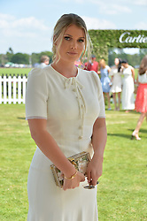 Lady Kitty Spencer at Cartier Queen's Cup Polo, Guard's Polo Club, Berkshire, England. 18 June 2017.<br /> Photo by Dominic O'Neill/SilverHub 0203 174 1069 sales@silverhubmedia.com