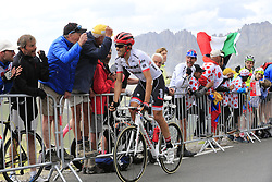 Alberto Contador (ESP) Trek-Segafredo approaches the summit of the Col du Galibier during Stage 4 of the 104th edition of the Tour de France 2017, running 183km from La Mure to Serre Chevalier, France. 19th July 2017.<br /> Picture: Eoin Clarke | Cyclefile<br /> <br /> All photos usage must carry mandatory copyright credit (© Cyclefile | Eoin Clarke)