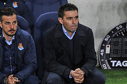 November 26, 2018 - San Sebastian, Spain - Asier Garitano, head coach of Real Sociedad, during the Spanish league football match between Real Sociedad and Celta at the Anoeta Stadium on 26 November 2018 in San Sebastian, Spain  (Credit Image: © Jose Ignacio Unanue/NurPhoto via ZUMA Press)