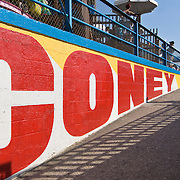Coney Island boardwalk in Brooklyn
