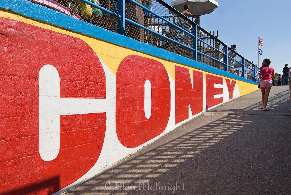 Coney Island boardwalk in Brooklyn