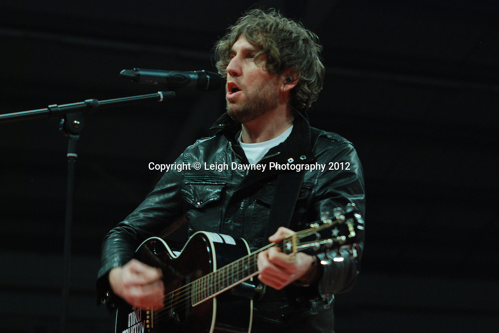 """Singer Niki Murray gave a rendition before the David Price v Matt Skelton fight of """"Ferry cross the Mersey"""" on the 30th November 2012 at Aintree Equestrian Centre, Aintree, Liverpool. Frank Maloney Promotions. Pictures by Leigh Dawney. ©leighdawneyphotography 2012."""