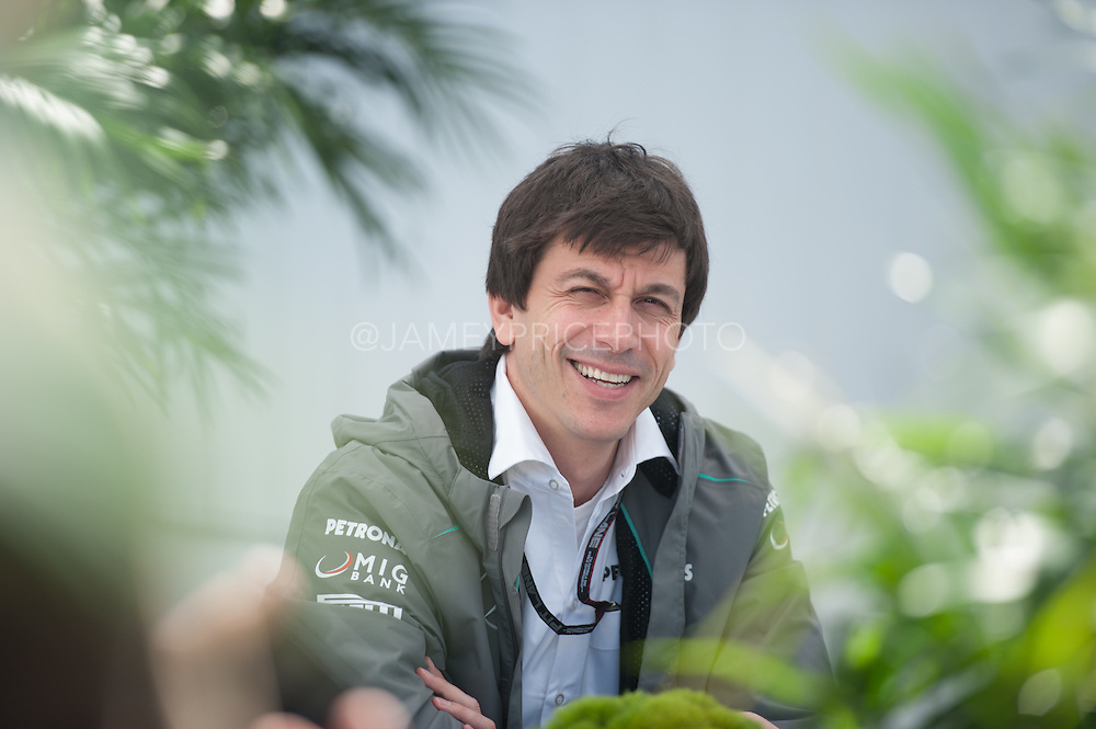 June 7-9, 2013 : Canadian Grand Prix. Toto wolff, team principal of Mercedes