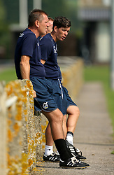 Darrell Clarke manager of Bristol Rovers chats to his coaching staff - Mandatory by-line: Robbie Stephenson/JMP - 15/09/2016 - FOOTBALL - The Lawns Training Ground - Bristol, England - Bristol Rovers Training