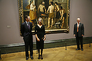 .R.H. The Infanta Dona Cristina de Borbon, Her husband Mr Inaki Urdangarin and Charles Saumeraz Smith, Duchess and Duke of Palma, Velasquez private view, Sainsbury Wing, National Gallery,16 October 2006. DO NOT ARCHIVE-© Copyright Photograph by Dafydd Jones 66 Stockwell Park Rd. London SW9 0DA Tel 020 7733 0108 www.dafjones.com