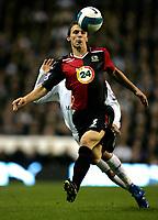 Photo: Tom Dulat.<br /> <br /> Tottenham Hotspur v Blackburn Rovers. The FA Barclays Premiership. 28/10/2007.<br /> <br /> Stephen Warnock of Blackburn Rovers and Aaron Lennon of Tottenham Hotspur with the ball.