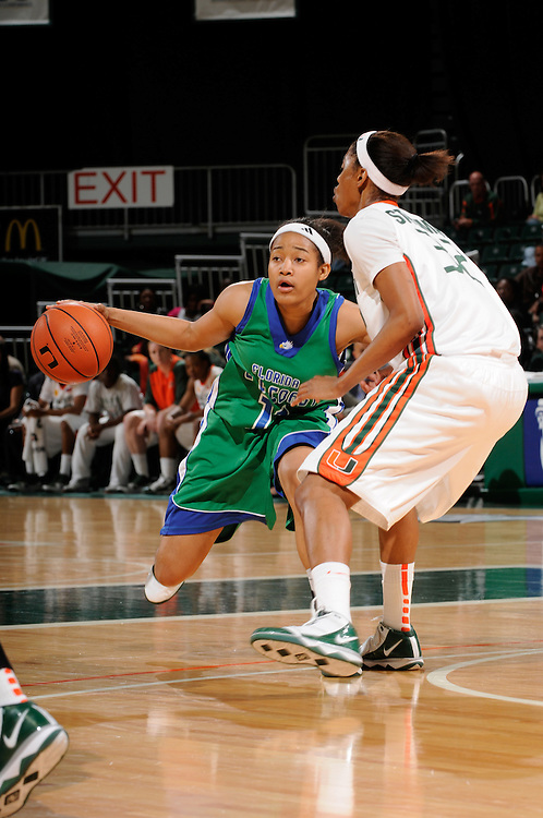 2010 FLORIDA GULF COAST UNIVERSITY Women's Basketball @ Miami - First Round Women's NIT