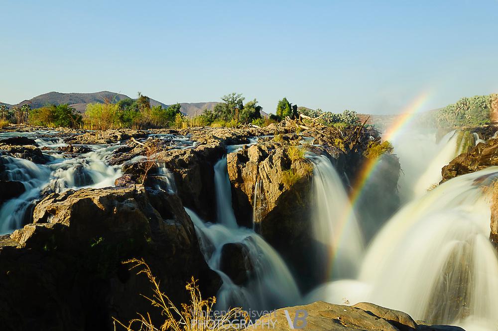 A close-up view of Epupa falls in northern namibia, near angola border