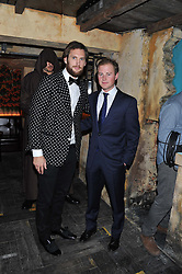 Left to right, MARC JACQUES BURTON and GUY PELLY at the launch party for the new nightclub Tonteria, 7-12 Sloane Square, London on 25th October 2012.