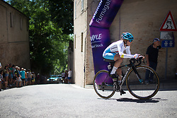 Arlenis Sierra Canadilla (CUB) of Astana Women Cycling Team rides near the top of the final climb of Stage 5 of the Giro Rosa - a 12.7 km individual time trial, starting and finishing in Sant'Elpido A Mare on July 4, 2017, in Fermo, Italy. (Photo by Balint Hamvas/Velofocus.com)