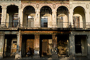 Run-down colonial buildings in Old Havana, Cuba on Sunday June 29, 2008.