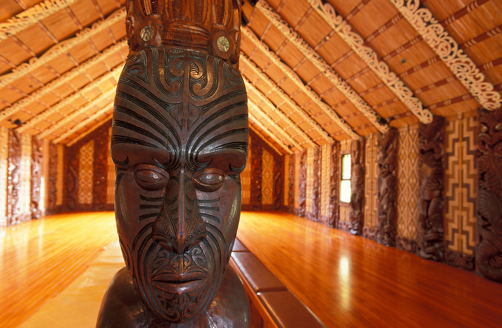 Whare Runanga Meeting House at Waitangi Treaty Grounds, Waitangi,  Bay of Islands, Northland, North Island, New Zealand