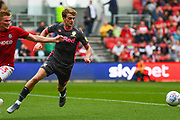 Patrick Bamford of Leeds United (9) in action during the EFL Sky Bet Championship match between Bristol City and Leeds United at Ashton Gate, Bristol, England on 4 August 2019.