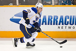 January 6, 2010; San Jose, CA, USA; St. Louis Blues center Alexander Steen (20) during the second period against the San Jose Sharks at HP Pavilion. San Jose defeated St. Louis 2-1 in overtime. Mandatory Credit: Jason O. Watson / US PRESSWIRE