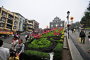 Asia, Southeast, People's Republic of China, Macau. The facade of St. Paul's Cathedral