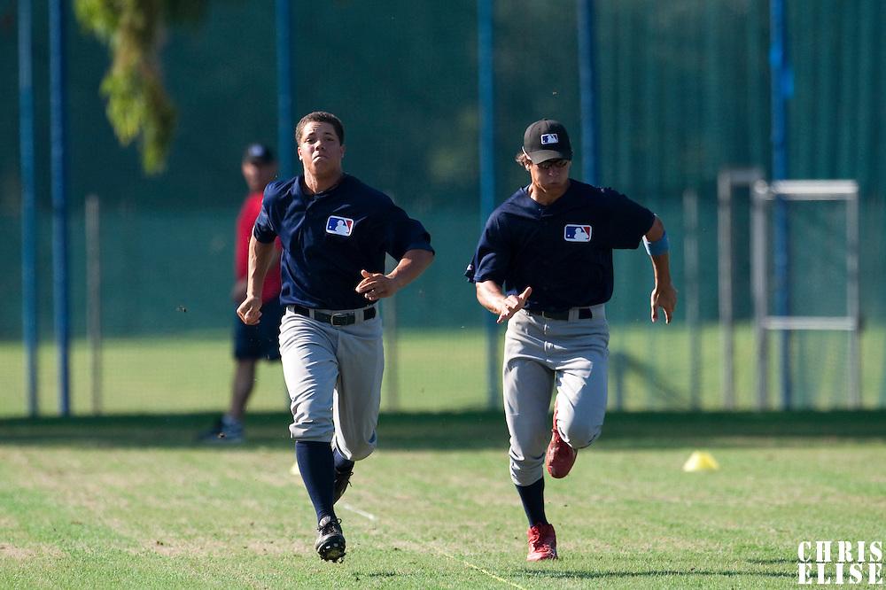 Baseball - MLB Academy - Tirrenia (Italy) - 19/08/2009 - Shawn Larry (Germany), Matej Mensik (Czech Republic)