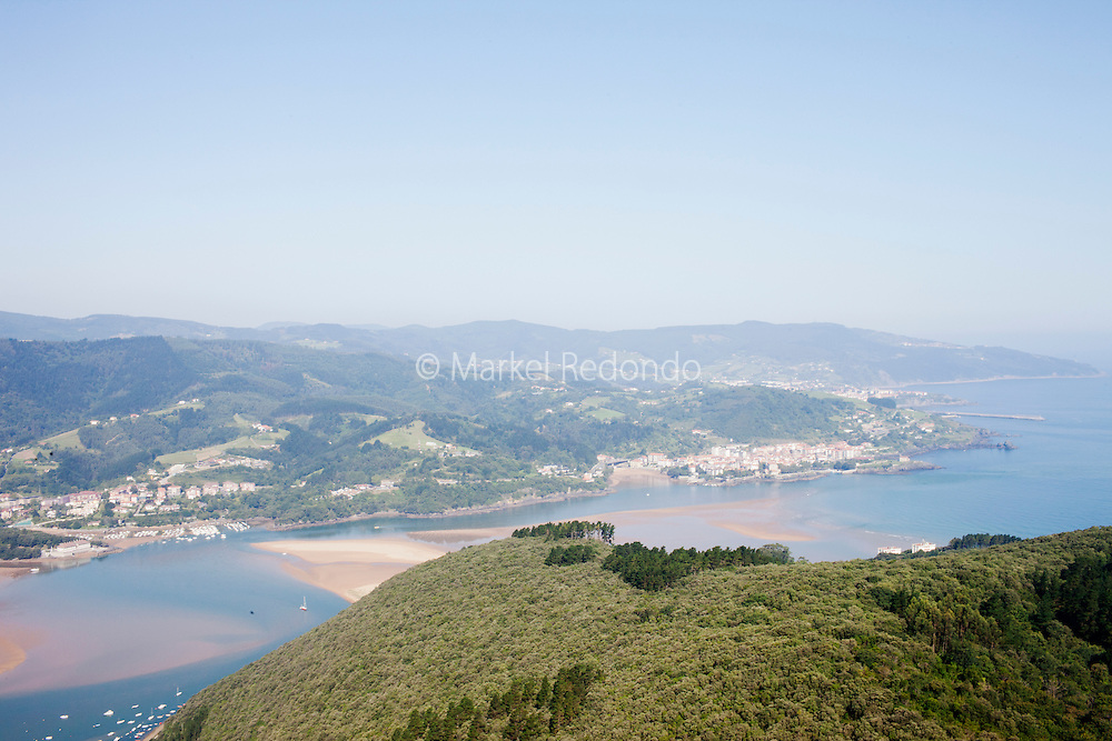 A view of Urdaibai from San Pedro de Atxarre hermitage.