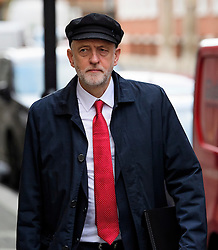 "© Licensed to London News Pictures. 10/01/2017. London, UK. Labour Party leader JEREMY CORBYN seen in London on the day he is due to give a speech on Brexit, arguing that the UK ""can be better off"" after leaving the EU. Photo credit: Ben Cawthra/LNP"