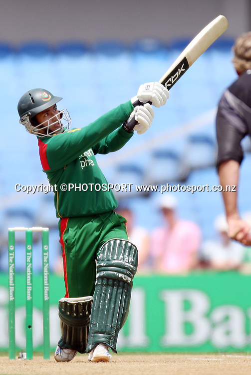Bangladesh captain and batsman Mohammad Ashraful during his innings of 70. New Zealand v Bangladesh, Ist ODI, Eden Park, Auckland, New Zealand. Boxing Day, Wednesday 26 December 2007. Bangadesh were dismissed for 201 in the 47th over. Photo: Andrew Cornaga/PHOTOSPORT