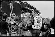 Heavy Metal fans at Monsters of Rock. Donnington, 1980s.