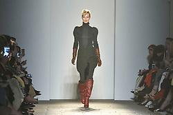 Models on the catwalk during the Bottega Veneta catwalk show held during Milan Fashion Week in Italy