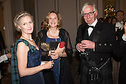 MRS. ROBIN PEARSE-WHEATLEY; MRS. COLIN CHURCH; RONNIE HUNTER-BLAIR, The Royal Caledonian Ball 2016. Grosvenor House. Park Lane, London. 29 April 2016