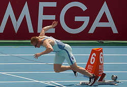 Matic Osovnikar of Slovenia competes in the Mens 200m Heats during day three of the 20th European Athletics Championships at the Olympic Stadium on July 29, 2010 in Barcelona, Spain. (Photo by Vid Ponikvar / Sportida)
