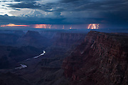 During the summer months, the monsoon brings thunderstorms to the deserts or Arizona. These storms often produce lots of lightning such as this display which was captured in this 7-image composite over a 20 minute period at Grand Canyon National Park in July 2012.