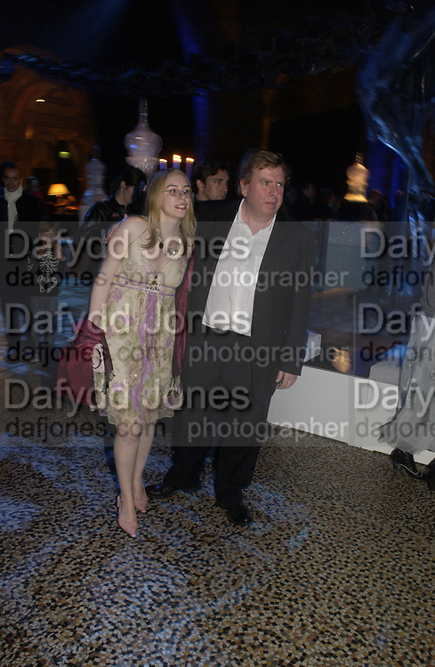 Timothy Spall and his daughter. World premiere of Harry Potter and the Goblet of Fire. Odeon Leicester Sq and afterwards at then Natural History Museum. London. 6 November 2005.  2005. ONE TIME USE ONLY - DO NOT ARCHIVE © Copyright Photograph by Dafydd Jones 66 Stockwell Park Rd. London SW9 0DA Tel 020 7733 0108 www.dafjones.com