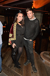 GIZZI ERSKINE and JAMIE REYNOLDS at a party to celebrate the opening of 100 Wardour Street, Soho, London on 28th January 2016.