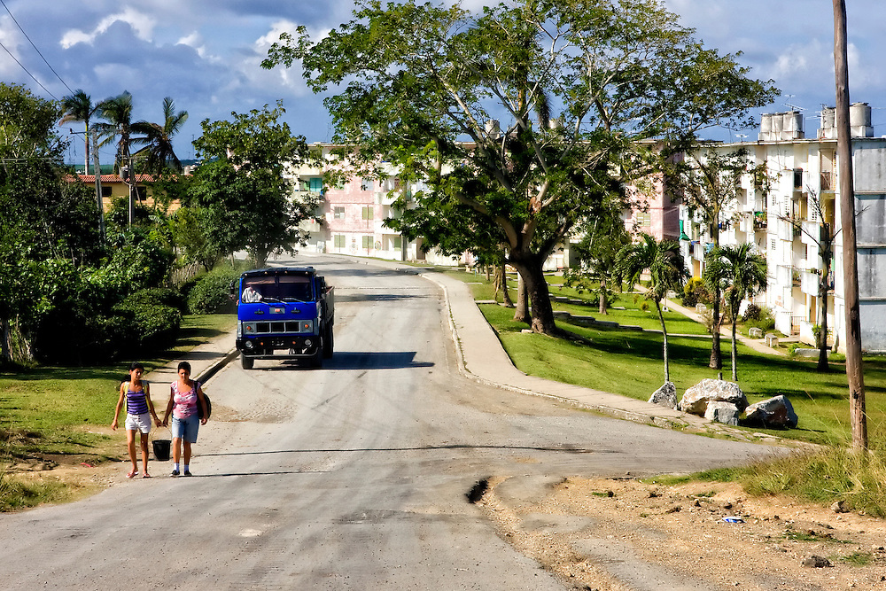 Street in Cabanas, Artemisa, Cuba.