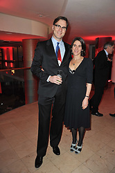 DAVID MORRISSEY and his wife ESTHER FREUD at the Costa Book Awards 2010 held at Quaglino's, 16 Bury Street, London on 25th January 2011.