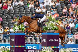 GOLDSTEIN Danielle (ISR) Lizziemary<br /> Tryon - FEI World Equestrian Games™ 2018<br /> FEI World Individual Jumping Championship<br /> Third cometition - Round A<br /> 3. Qualifikation Einzelentscheidung 1. Runde<br /> 23. September 2018<br /> © www.sportfotos-lafrentz.de/Stefan Lafrentz