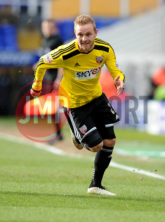 Brentford's Alex Pritchard  - Photo mandatory by-line: Joe Meredith/JMP - Mobile: 07966 386802 - 28/02/2015 - SPORT - Football - Birmingham - ST Andrews Stadium - Birmingham City v Brentford - Sky Bet Championship