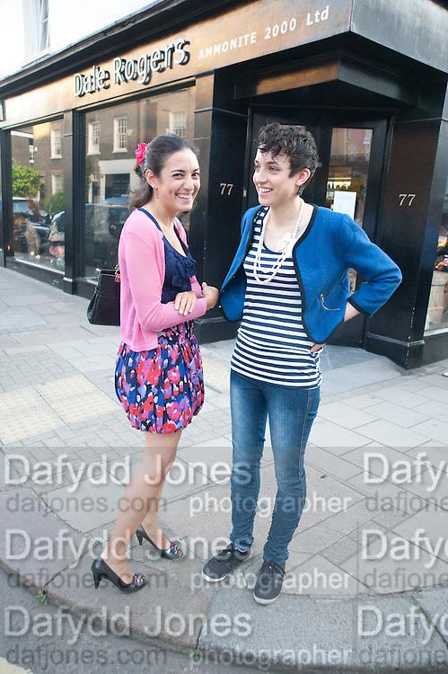 DAWN SKELTON; LAURA SKELTON, Pimlico Road party. 22 June 2010. -DO NOT ARCHIVE-© Copyright Photograph by Dafydd Jones. 248 Clapham Rd. London SW9 0PZ. Tel 0207 820 0771. www.dafjones.com.
