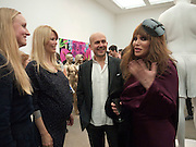 CLAUDIA SCHIFFER; MARC QUINN; ALLANAH STARR; , Marc Quinn exhibition opening. Allanah, Buck, Catman, Michael, Pamela and Thomas. White Cube Hoxton Sq. London. 6 May 2010.