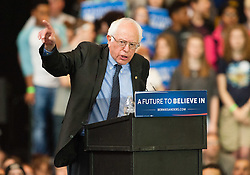 March 31 2016: Democratic Presidential Candidate Bernie Sanders speaks at his A Future to Believe In Rally at the David L. Lawrence Convention Center in Pittsburgh, Pennsylvania (Photo by Justin Berl)